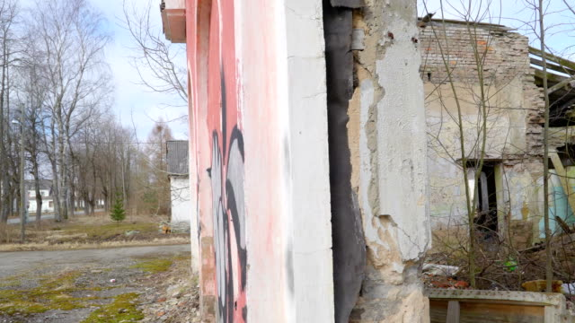 The inside look of the ruined house in ukraine video