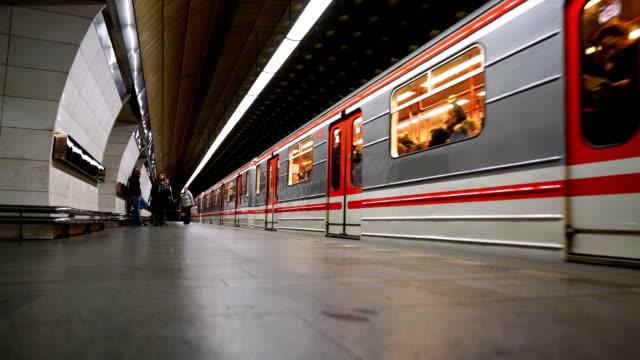The interior of subway station