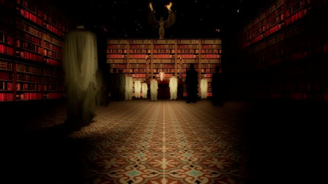The Interior of the Great Library of Alexandria in the Lecture Hall video