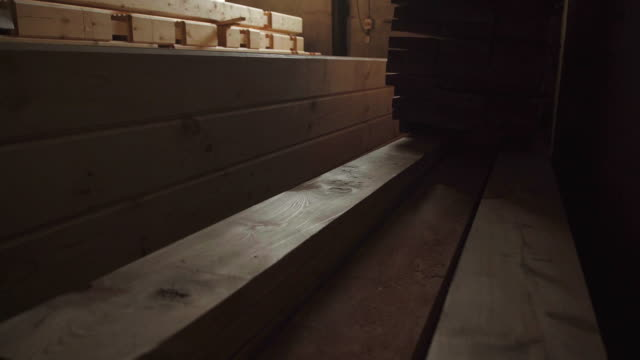 The interior of the production hall in the woodworking factory video