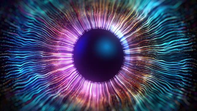 The iris of the eye made using computer graphics