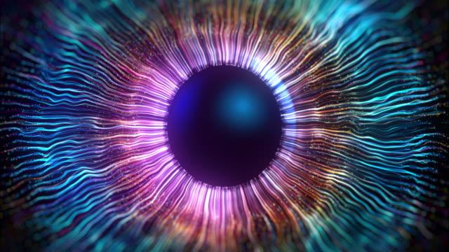 vidéos et rushes de l'iris de l'œil fabriqué à l'aide d'infographies - oeil