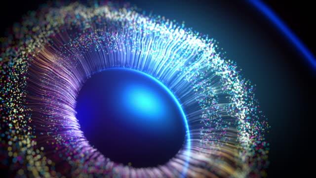 die iris des auges, die mit computergrafiken hergestellt wird - augenheilkunde stock-videos und b-roll-filmmaterial
