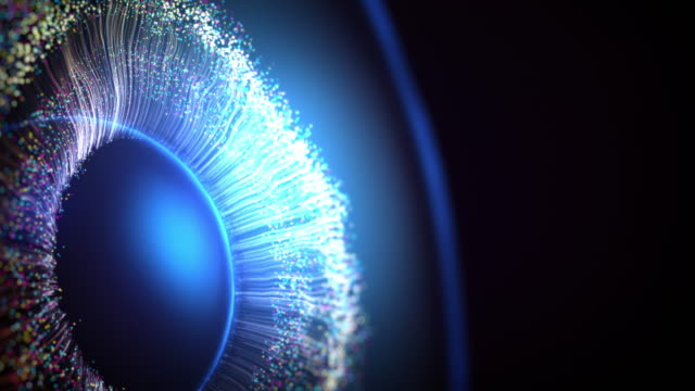 vídeos y material grabado en eventos de stock de el iris del ojo hecho usando gráficos por computadora - ojo morado