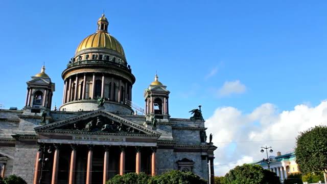 the isaac's cathedral - isakskatedralen bildbanksvideor och videomaterial från bakom kulisserna