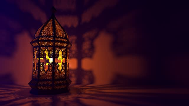 The Islamic lantern in its traditional appearance burns with an endless flame.