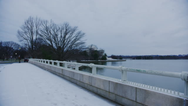 The Jefferson Memorial With Tidal Basin During Winter Time In Washington DC