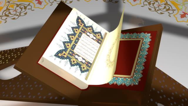stockvideo's en b-roll-footage met de koran boek - koran