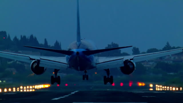 the landing of a passenger plane video