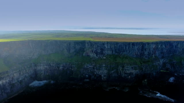 The landscape aerial shot of the Cliffs of Moher video