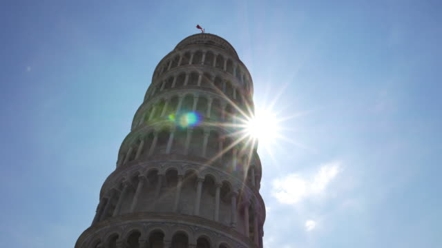 pisa kulesi campo dei miracoli içinde - pisa kulesi stok videoları ve detay görüntü çekimi