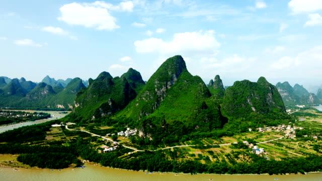 das li's golden waterway - provinz guangxi stock-videos und b-roll-filmmaterial