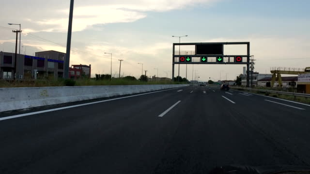 The light signalization on the highway in Greece video