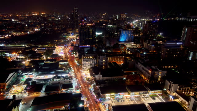 The lights of the big city. Streets, lights, traffic.