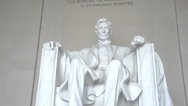 The Lincoln Memorial in Washington D.C. Abraham Lincoln, in Washington DC president stock videos & royalty-free footage