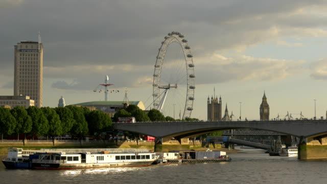 The London Eye and the Waterloo Bridge