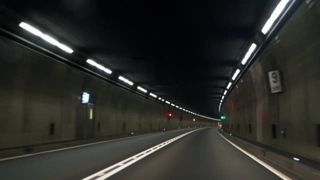 the longest gothard tunnel in europe and switzerland - lungo video stock e b–roll