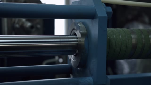 The machine - the movement of the plug in a pipe . The machine - the sliding  movement of the plug in a pipe. bolt fastener stock videos & royalty-free footage
