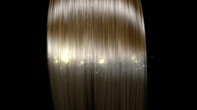 parlak ve sağlıklı saç sihirli dönüşmenin donuk saç. - peruk stok videoları ve detay görüntü çekimi