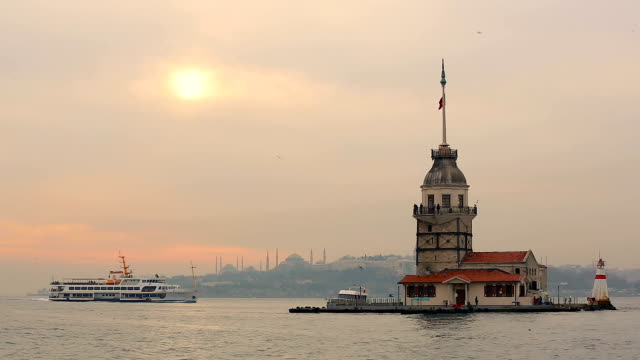 The Maiden's Tower HD 1920x1080 / 25p / Photo-JPEG / Real Time turkish culture stock videos & royalty-free footage