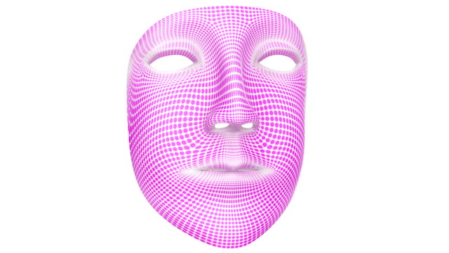 The mask. 4K resolution. Alpha channel. Looping. video