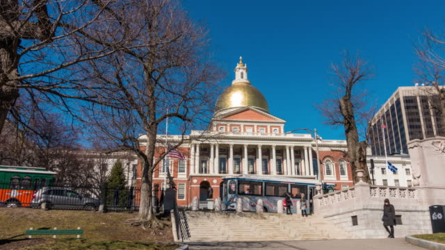 The Massachusetts State House in Boston video