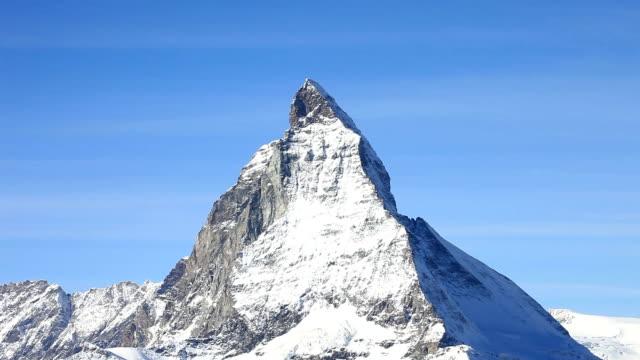 matterhorn, schweiz. - pyramidform bildbanksvideor och videomaterial från bakom kulisserna