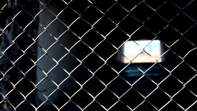 The metal wire fence video