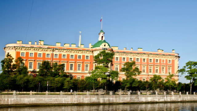 The Mikhailovsky Palace in St. Petersburg, Russia video