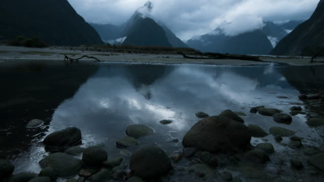 The Milford Sound fiord. Fiordland national park, New Zealand video