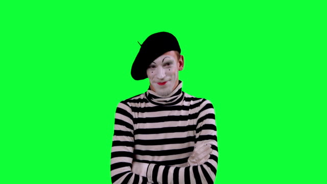 The mime boy laughs hysterically video