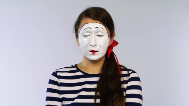 The mime girl is crying video