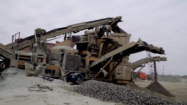 the mining process machine mining ore into fine raw materials video