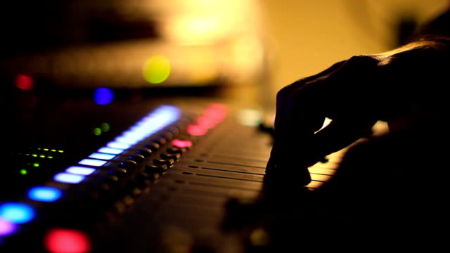 the mixing Desk at the concert video