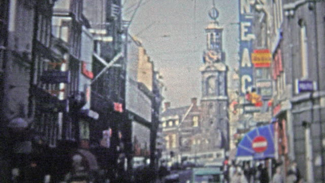 COPENHAGEN - 1966: The mod 60's streets of a busy section of the city. video