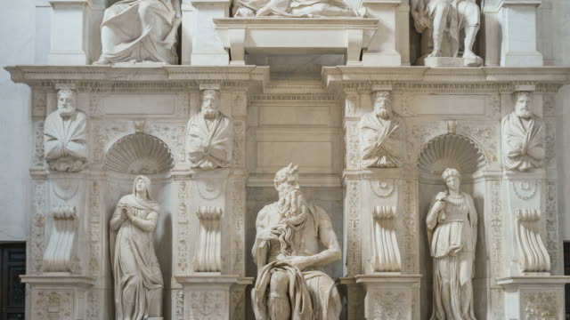 The Moses by Michelangelo, Rome, Italy video