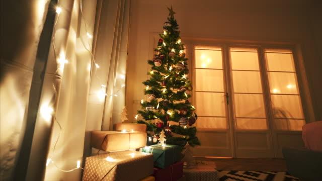 vídeos de stock e filmes b-roll de the most beautiful season of all! - living room background