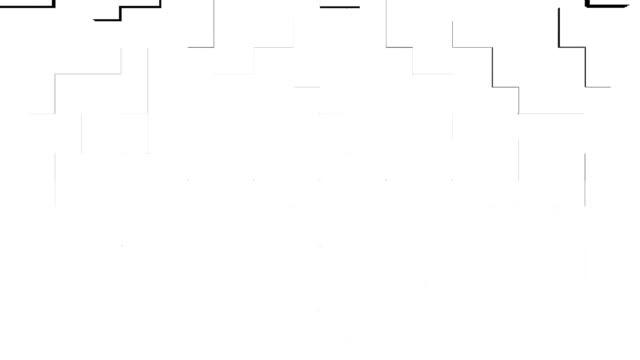 il movimento di elementi geometrici di forma rettangolare - a forma di blocco video stock e b–roll