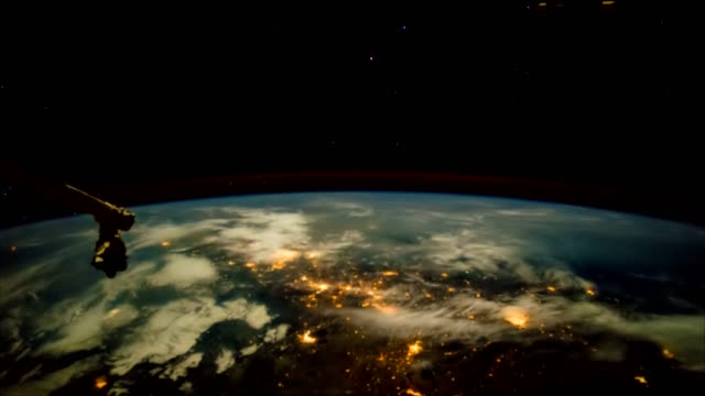 The movement of the earth's surface, taken from the space station. video