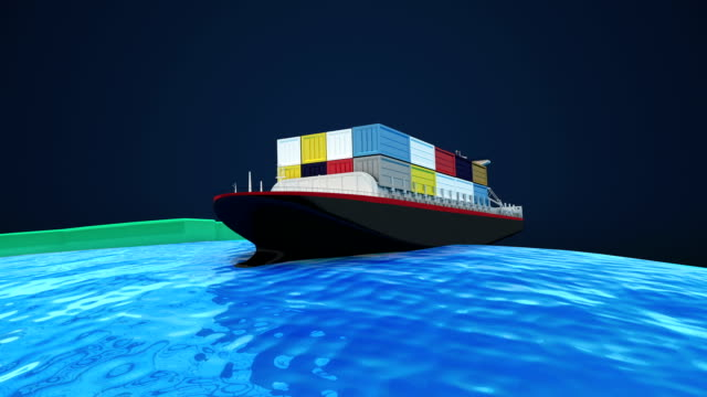 The movements of shipping for trade global business. video