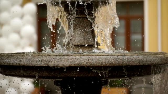 The multi-tiered stone fountain. video
