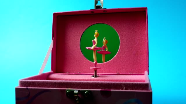 The music casket with the dancing ballerina. video