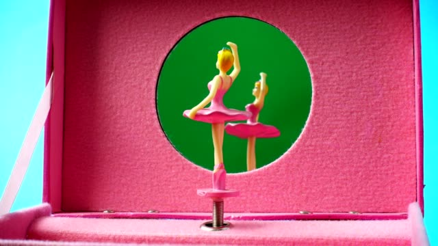 The music casket with the dancing ballerina.