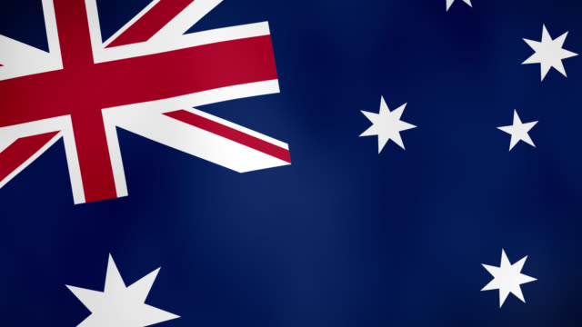 The national flag of Australia waving animation - 4k