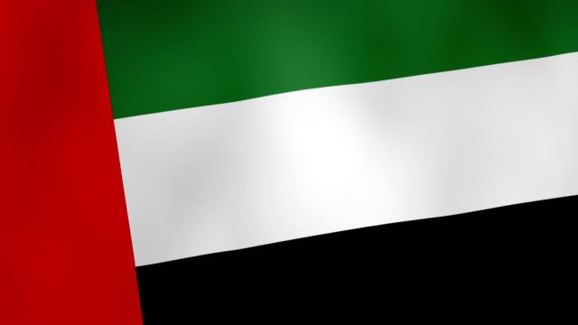 the national flag of the united arab emirates waving animation - 4k - uae flag стоковые видео и кадры b-roll