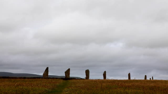 The neolithic Ring of Brodgar, Orkney in Scotland