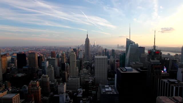The New York Skyline at dusk video