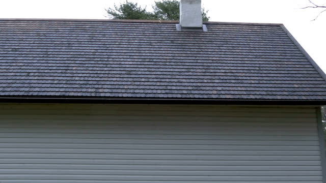 The newly built house with a shingle roof video
