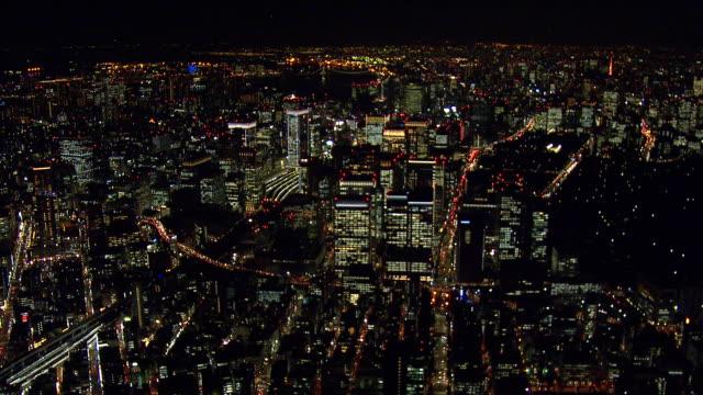 東京の夜の眺め ビデオ