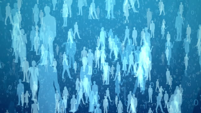 the numbers and worker silhouettes[loop] digital society. promotion employment stock videos & royalty-free footage
